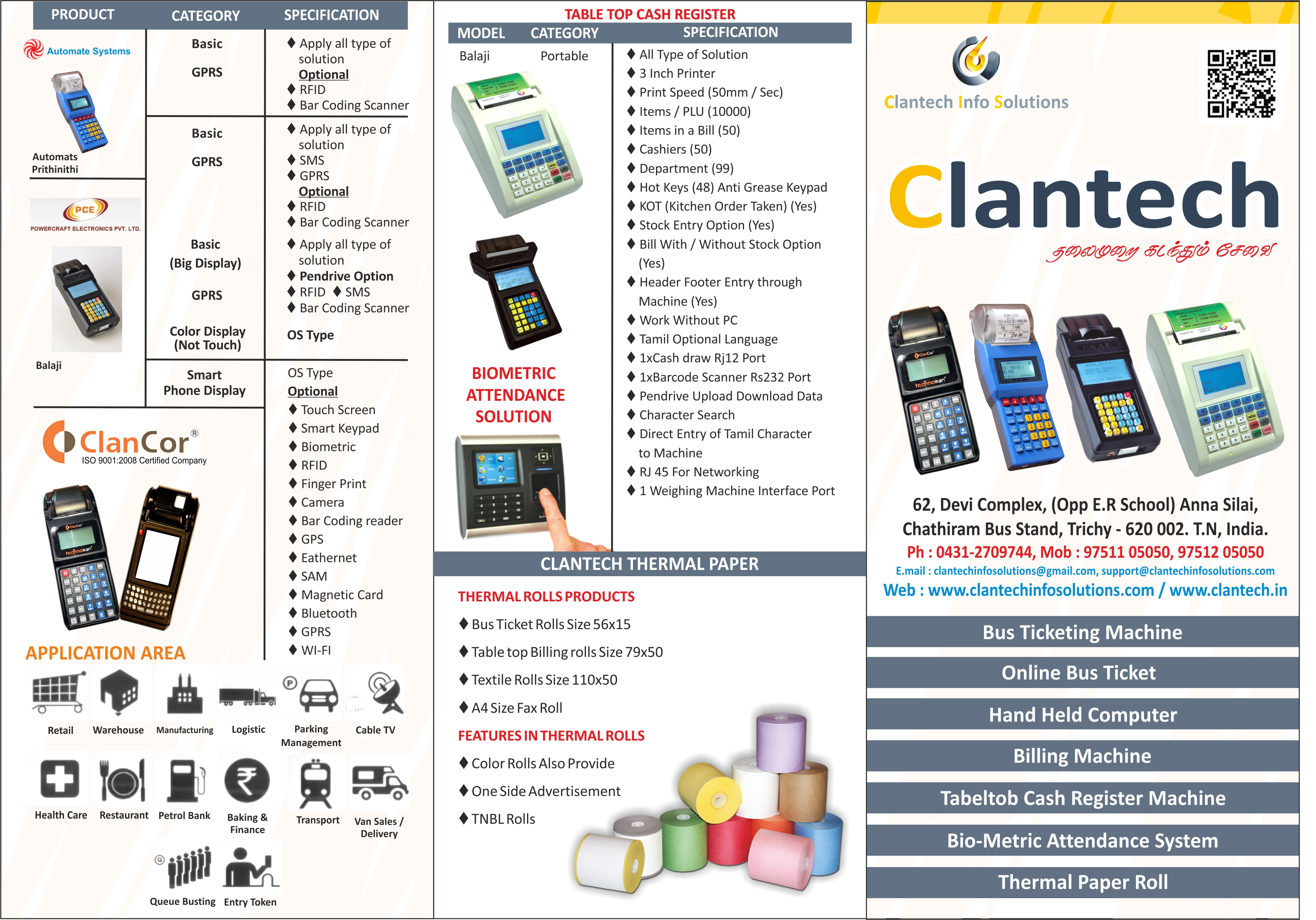 Clan Tech Info Solutions - Trichy, thermal printing machine in